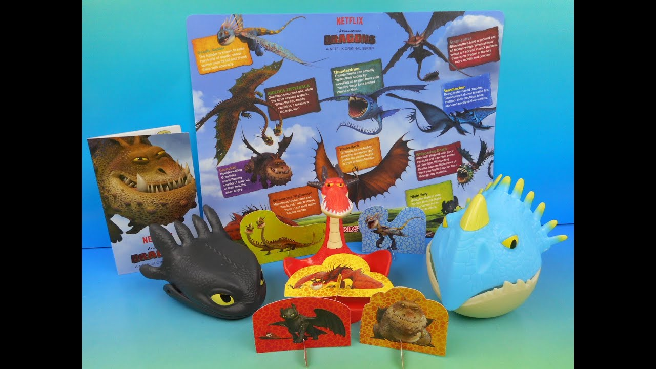 2015 DREAMWORKS DRAGON S SET OF 5 WENDY S KID S MEAL TOY S VIDEO