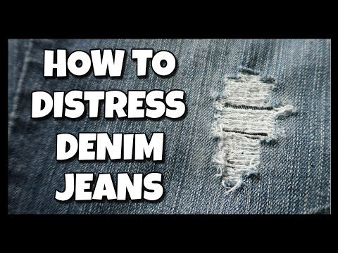 How To Distress Denim Jeans 📍 How To With Kristin