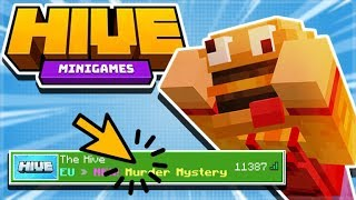 BEATING EVERYONE 1.9 MCPE HIVE SERVER! - Treasure Wars Duos + Murder Mystery (iOS, Xbox, Switch, PC)