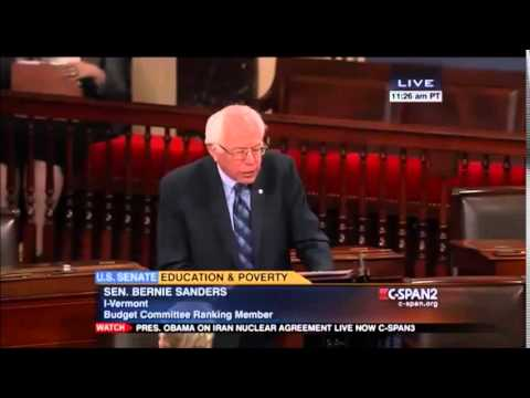 Bernie Sanders Wants to Quit Overfunding Prisons and Instead Fund Schools