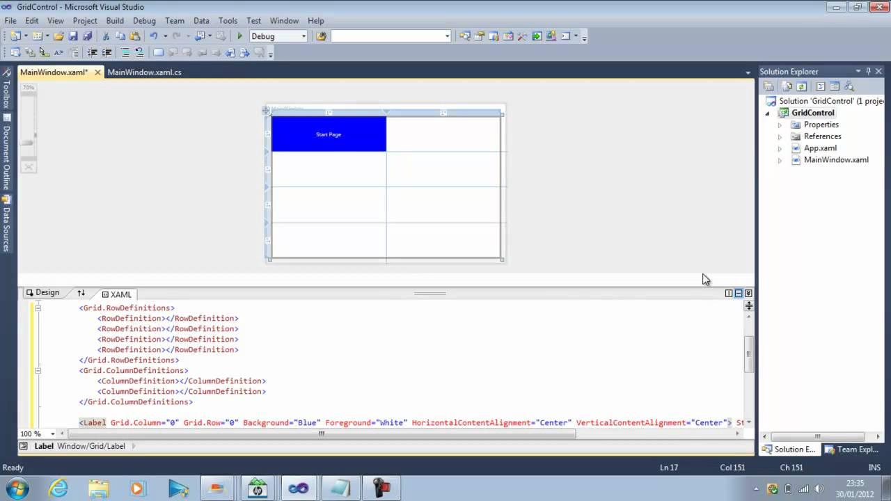 WPF Layout GridControl