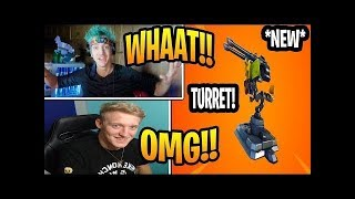 Youtubers react to NEW mounted turret!!