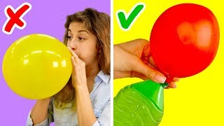 17 AMAZING LIFE HACKS WITH BALLOONS thumbnail