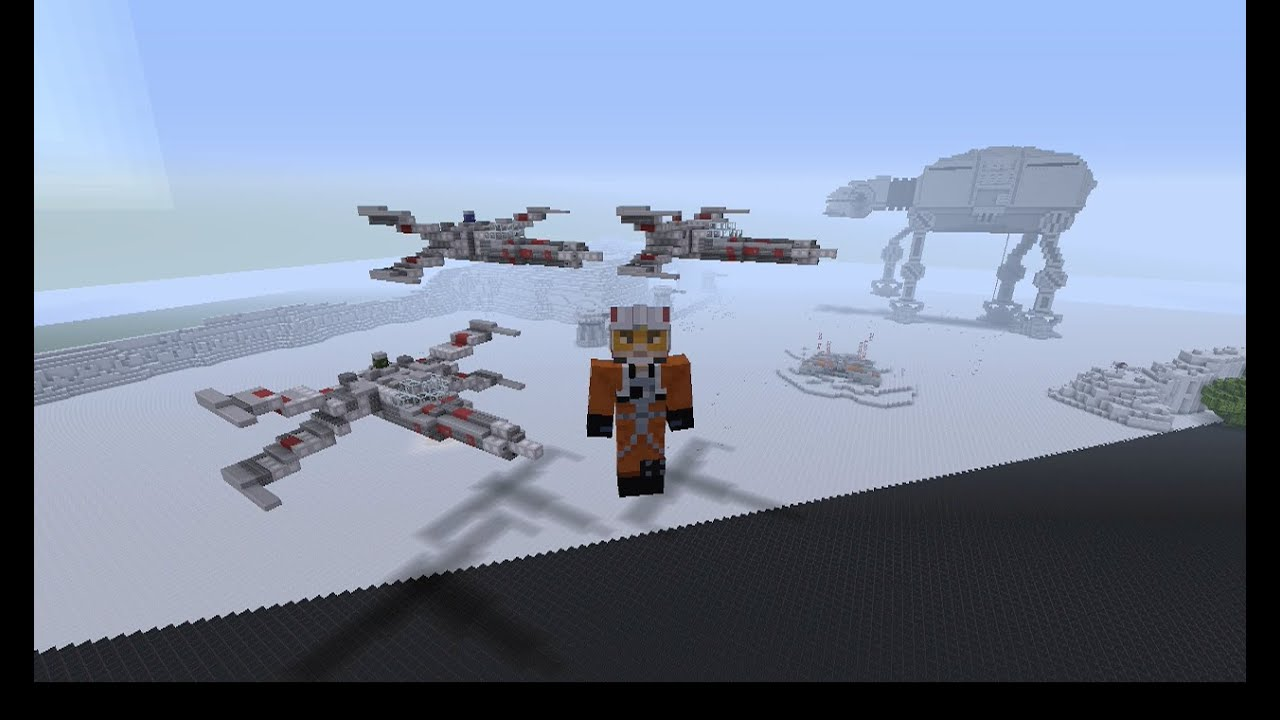 My StarWars Build *added X wing* - Creative Mode - Minecraft ...