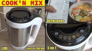 cook'n mix lidl silvercrest cuiseur mixeur smk 1000 soupes smoothies compotes