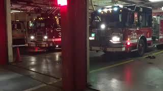 Chicago Fire Department Engine 42 & Truck 3 Responding.