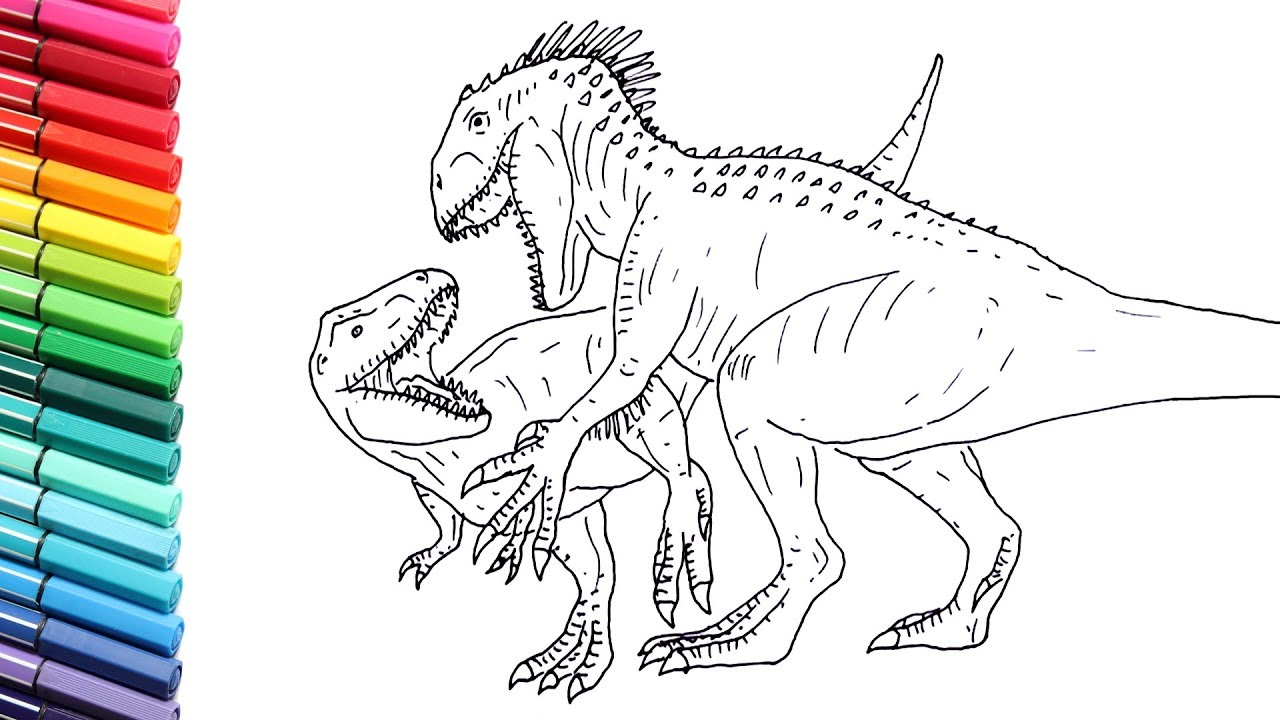 Spinosaurus Vs T Rex Coloring Pages | Colorpaints.co