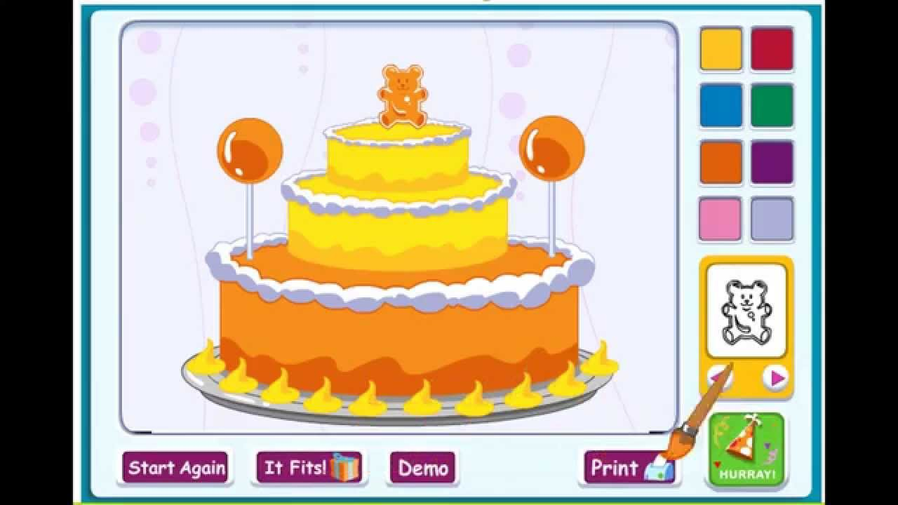 Barney Happy Birthday Cake Kid Game