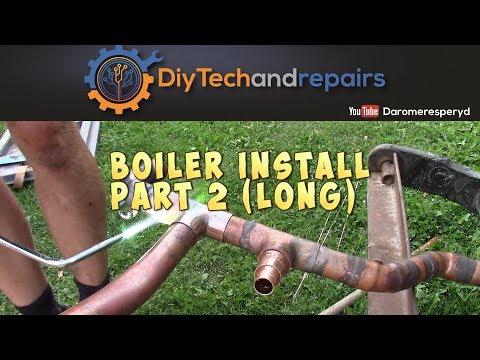 Install wood boiler part 2 (long)