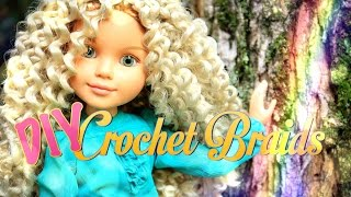 DIY - How to Make: Doll Crochet Braids - Handmade - Crafts - Hair Style