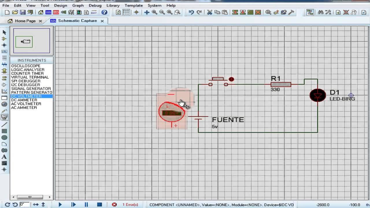Circuito Sencillo : Como hacer un circuito sencillo en proteus parte3 youtube