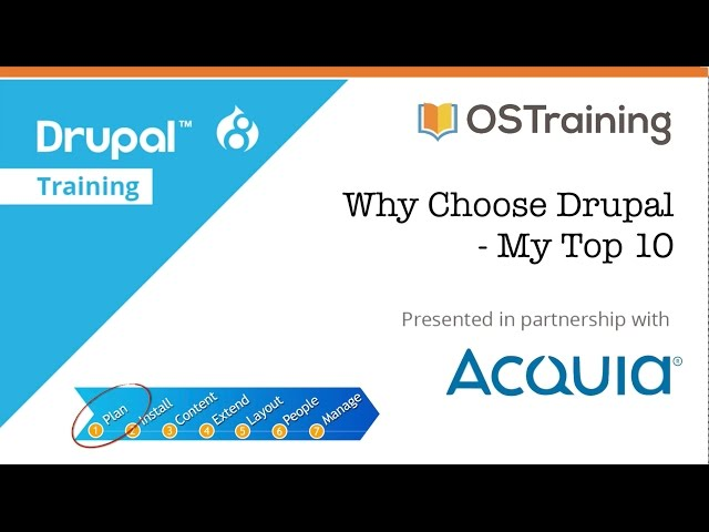 Drupal 8 Beginner, Lesson 3: Why Choose Drupal?