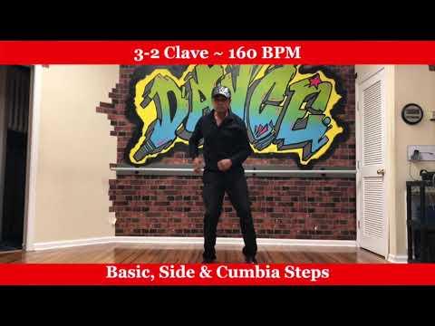 Salsa Dance for Absolute Beginners - Rhythm 3-2 Clave - 160 BPM