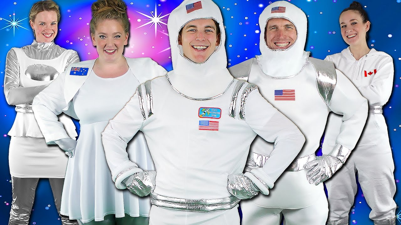 Astronauts! Children's Song - Kids Space Adventure | Bounce Patrol