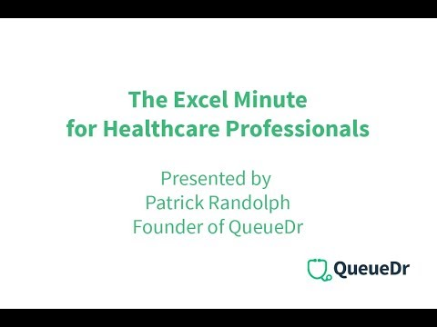 Excel Tips for Healthcare Professionals - Shortcut Keys