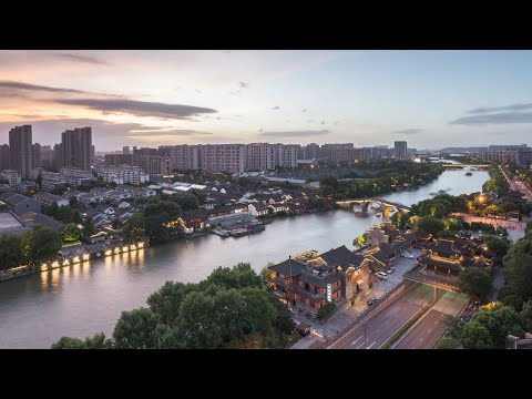 """""""Paradise on Earth"""": Aerial view of Hangzhou, China"""