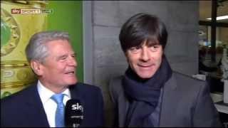 Jogi Löw versteht Joachim Gauck nicht ;-) - WM 2014