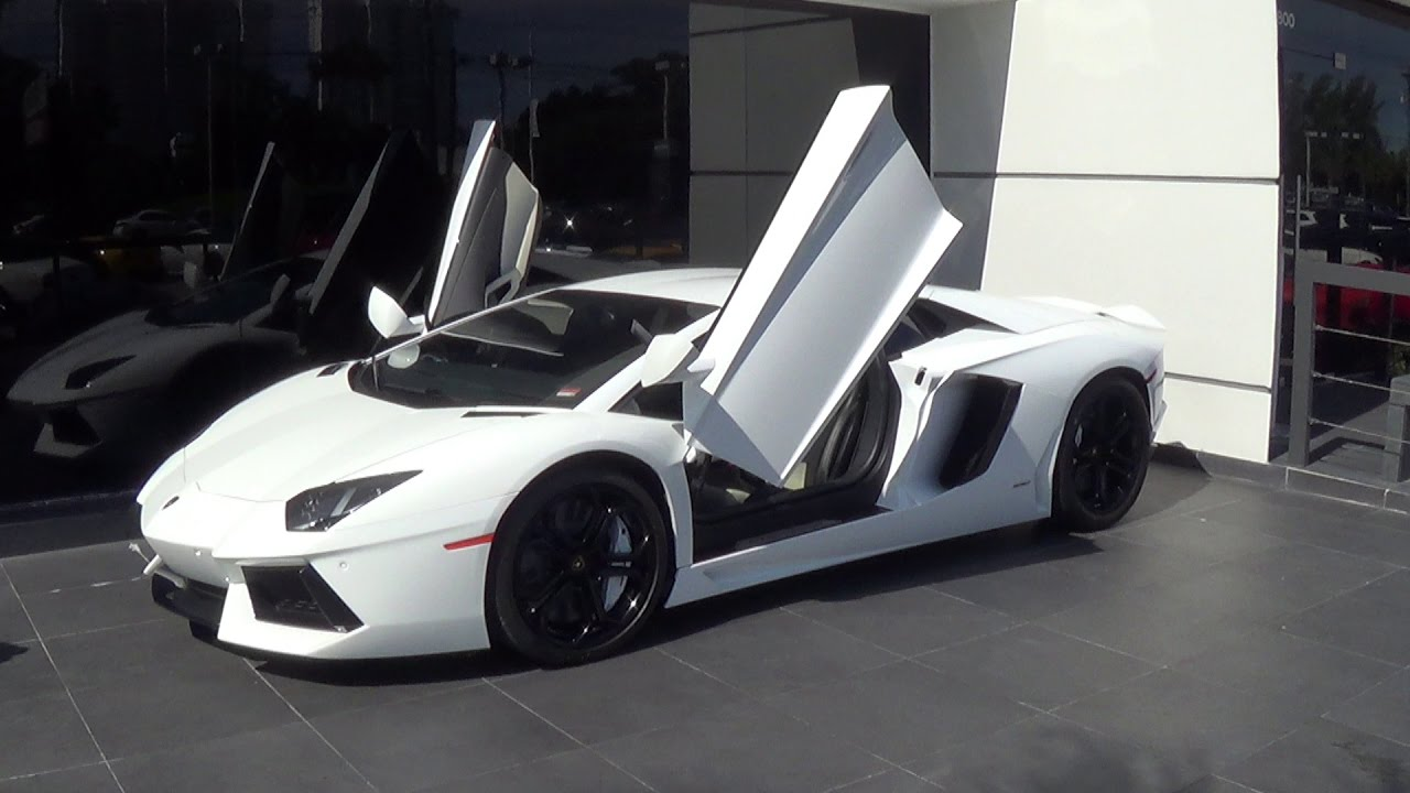 Lamborghini Aventador Lp700 4 Drive Engine Sound Revs White Beast At Lamborghini Miami Youtube