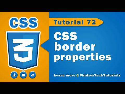 CSS Video Tutorial - 72 - Border Properties In Css
