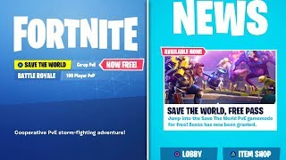 GET SAVE THE WORLD FREE *RIGHT NOW* (Fortnite Save the World FREE)