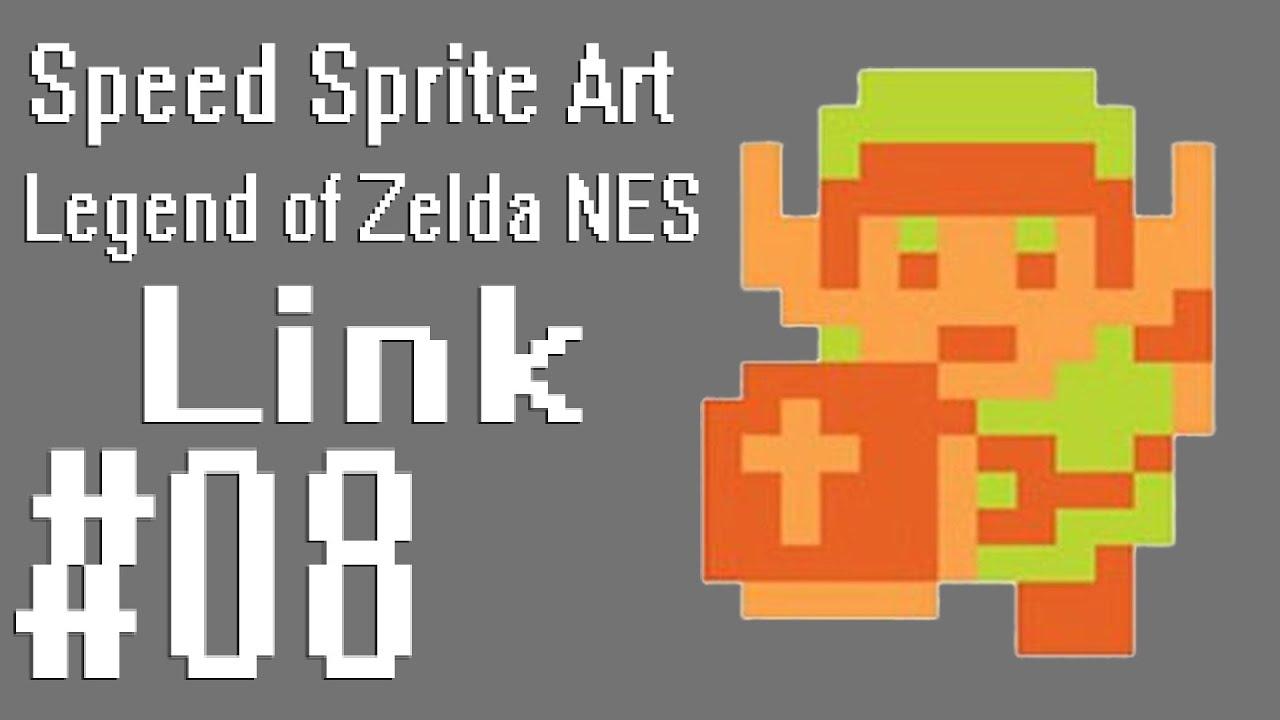 Speed Sprite Art #08 ~ Legend of Zelda (NES) [LINK]
