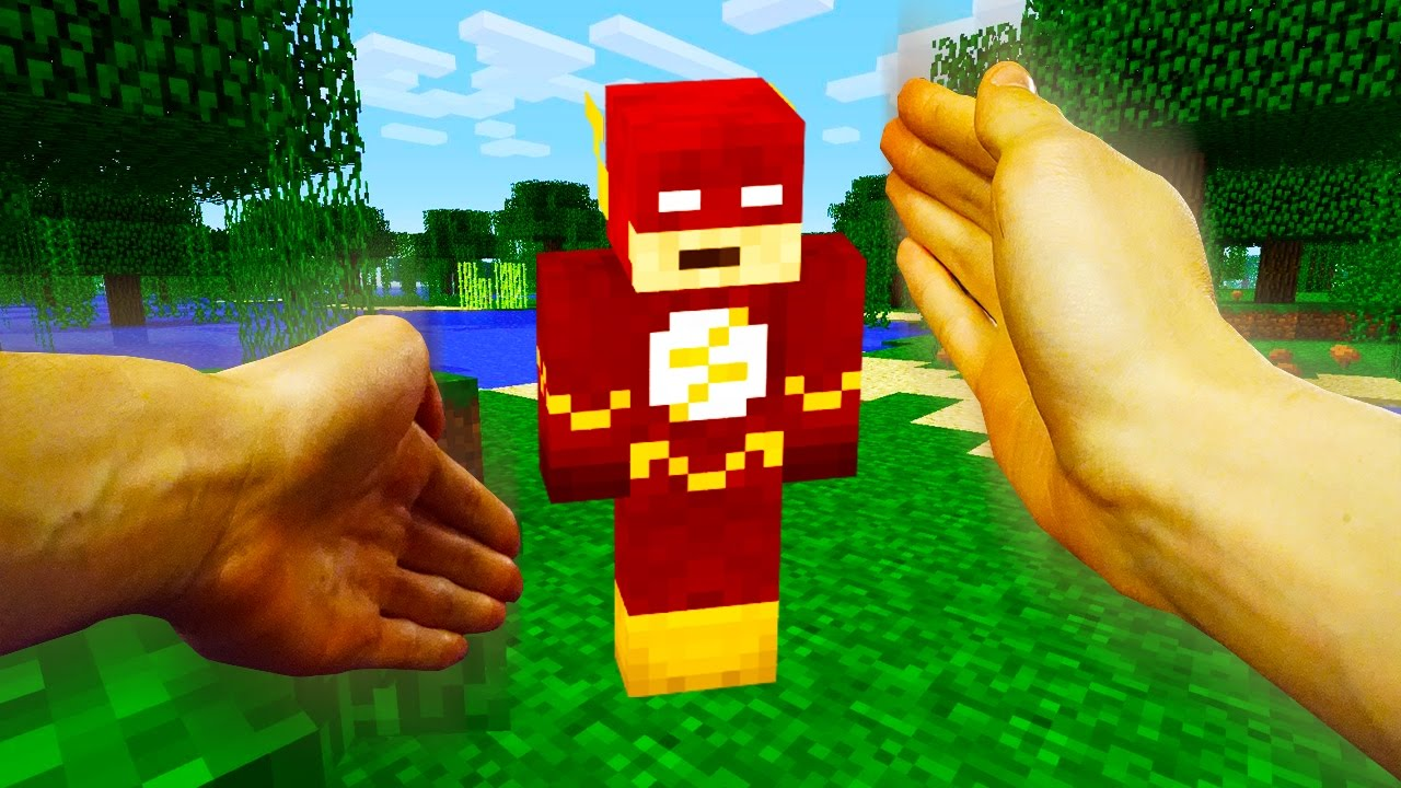 Realistic Minecraft Steve Meets The Flash Youtube
