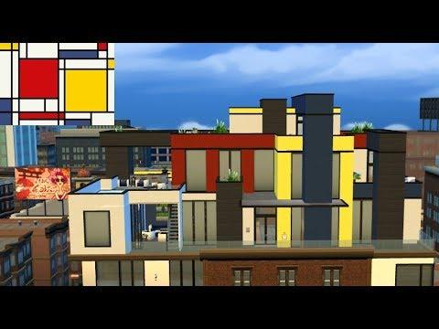 Sims 4 Hausbauvideo: Mondrian Penthouse