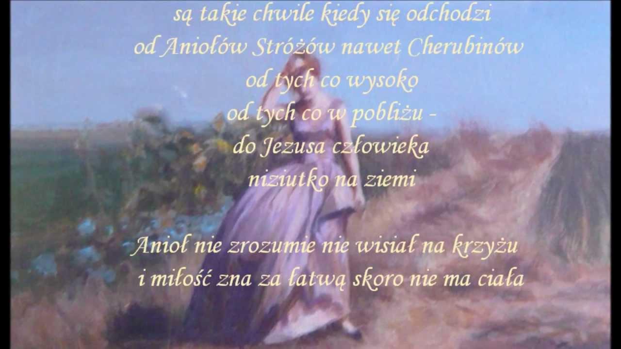 Aniele Boży Ty Właśnie Nie Stój Przy Mnie Jak Malowana