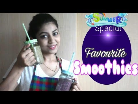 2 EASY Smoothies (without sugar)for summer | Healthy meal options