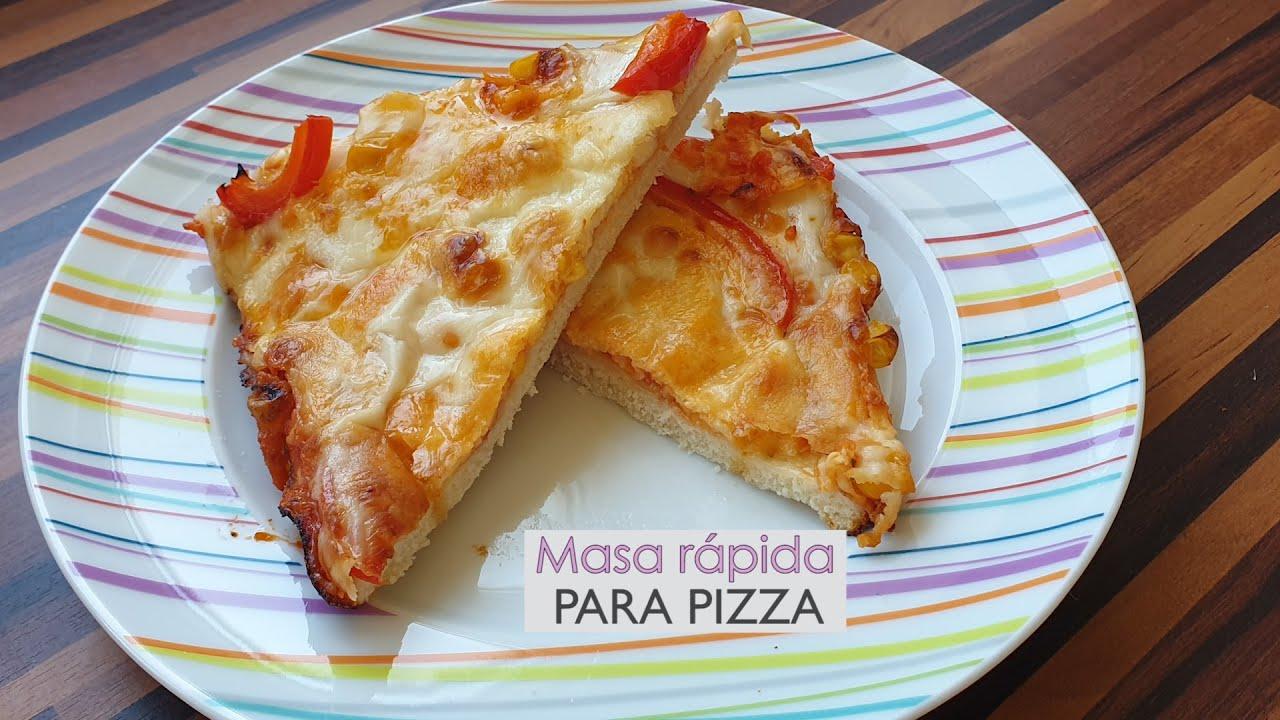 receta de masa para pizza a la piedra sin levadura