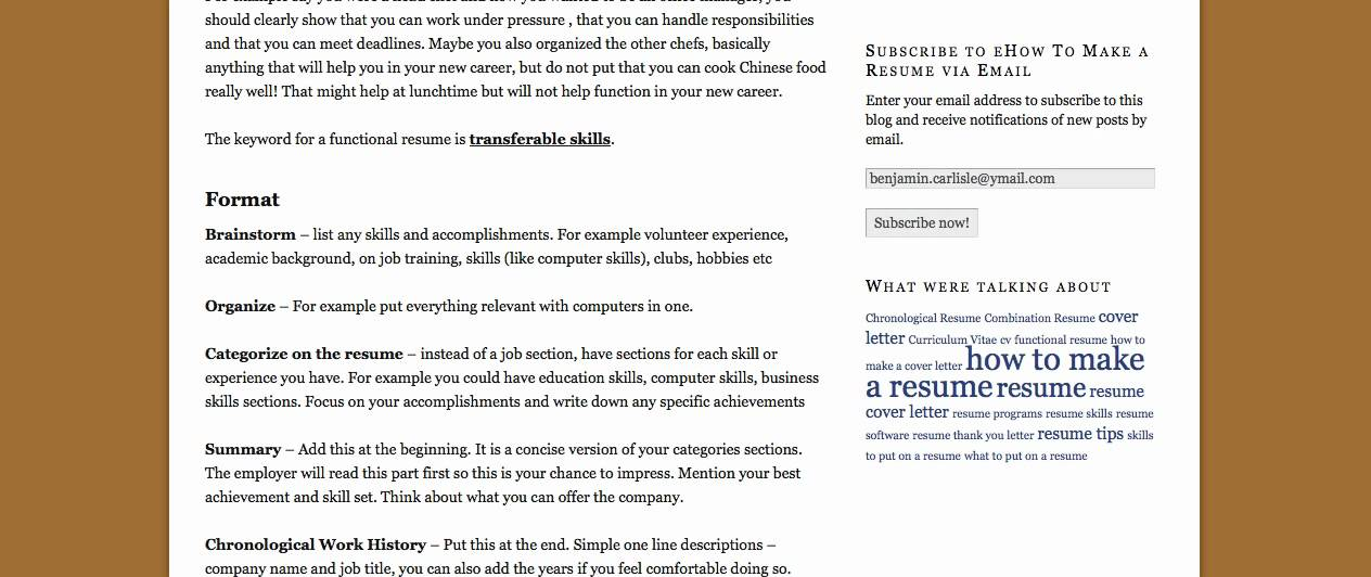 Learn How To Create An Outstanding Functional Resume.mp4  How To Create A Functional Resume