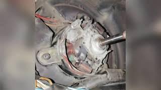 Ремонт моторчика печі омега б 2.0 х20xev, змащення втулок, графітні щітки