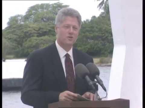 President Clinton at U.S.S. Arizona Memorial (1993)