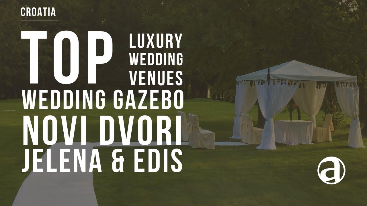 Outdoor Wedding Ceremony Under Gazebo