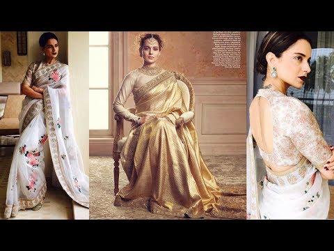 BEAUTIFUL SAREE DESIGNS BY DESIGNER SABYASACHI MUKHERJEE FOR KANGANA RANAUT's Saree Collection