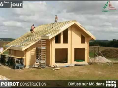 construction d 39 une maison bois en kit youtube. Black Bedroom Furniture Sets. Home Design Ideas