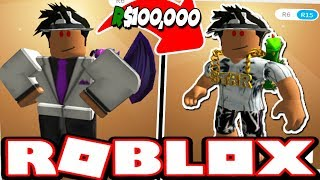 SPENDING R$100,000+ ON MY NEW CHARACTER! (Roblox)