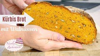Kürbis Brot mit Walnüssen I Brot einfach selbst backen I Rezept von Nicoles Zuckerwerk