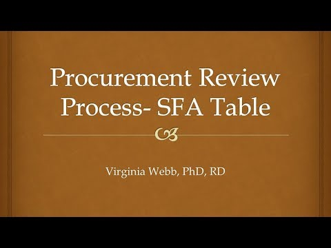 Procurement Review Process   SFA Table