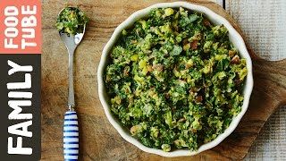 Beans, Sweetcorn & Spinach Puree | Michela Chiappa