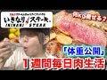 【肉ダイエット】1週間ステーキだけ食べたら体重はどう変化する?【検証】