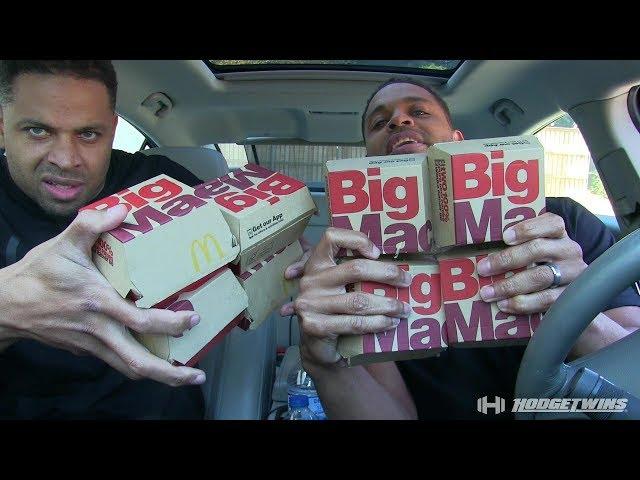 Mc Donalds Big Mac Eating Challenge @hodgetwins