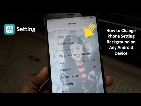 How to Set Your Own Image in Setting Background on Any Andro
