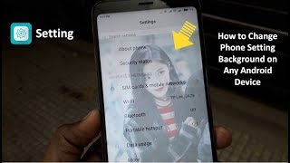 How to Set Your Own Image in Setting Background on Any Android Phone
