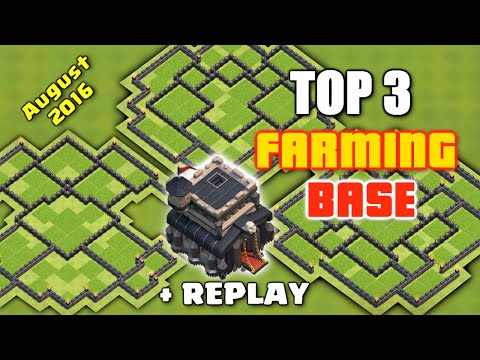 Clash Of Clans - TOP 3 TH9 FARMING BASE + REPLAYS 'August 2016' ♦ Best Bases To Save Resources