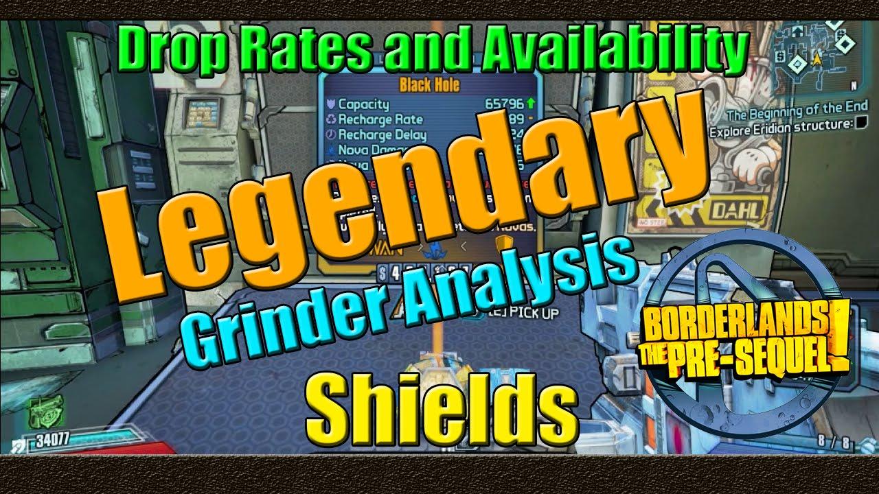 Borderlands the pre sequel grinder analysis legendary shield