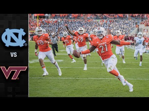 North Carolina vs. Virginia Tech Football Highlights (2017)