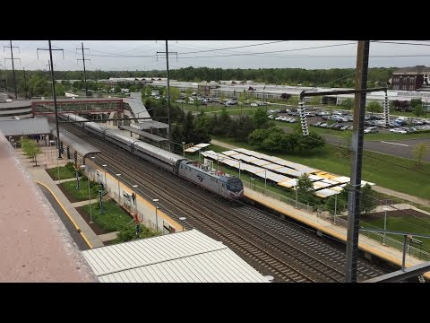 Amtrak & NJ Transit HD 60fps: Mid Afternoon 125 MPH Northeast Corridor Action @ Hamilton (5/11/16)