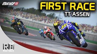 MotoGP 15 Gameplay PC: First Race - Rossi at TT Assen (MotoGP 2015 Game)