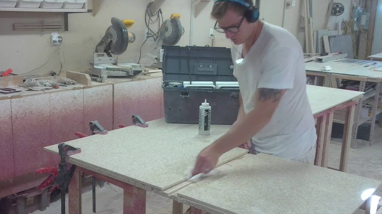 Making A Livingstone Solid Surface Countertop